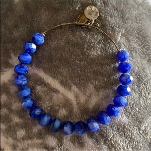 Chunky water colored blue beaded Alex and ani